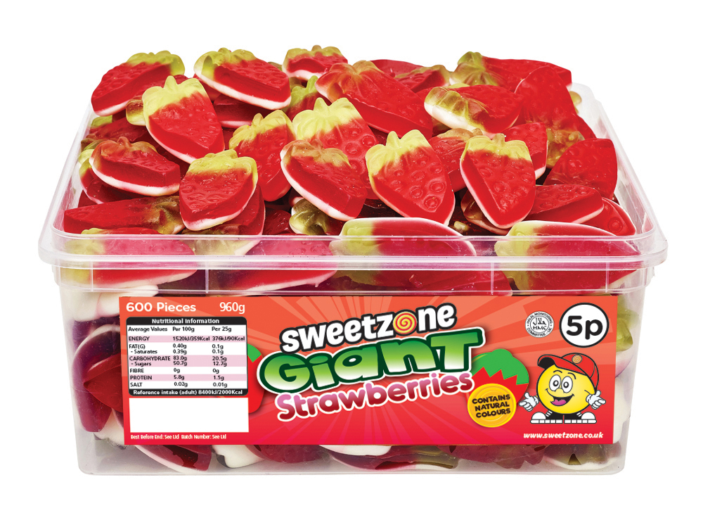 5p Giant Strawberries
